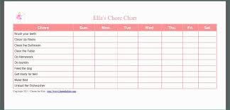 Chore Chart Templates Free Printable Free Printable Chore Chart Templates Weareeachother Coloring