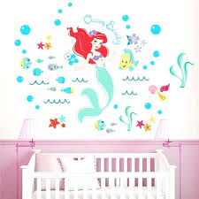 fish wall decals lovely mermaid fairy wall stickers for kids rooms bathroom decor cartoon seabed bubble fish wall decals