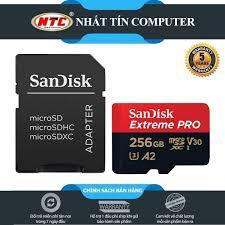 Chỉ 1,169,000đ - Thẻ Nhớ MicroSDXC SanDisk Extreme Pro V30 U3 4K A2 256GB  R170MB.s W90MB.s [Đen đỏ]