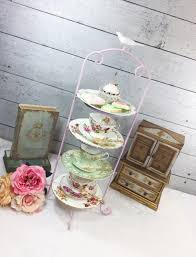 Tea Cup Display Stand SALE Bird Pink Large 100 Tier Metal Tea Cup Display Stand 19