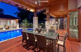 modern designer outdoor kitchen