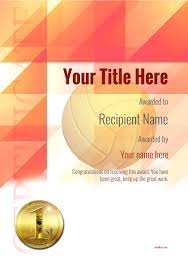 volleyball certificate template free volleyball certificate templates add printable badges medals