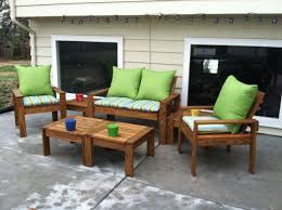 Week-long project for patio set - Simple Outdoor Conversation Set