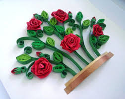 red roses bush quilling paper art quilling shadow box wall art rose bush quilling flowers red roses framed gift 3d art on 3d paper flower shadow box wall art with love birds quilling paper art wall art quilling shadow box