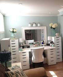 vanity table for small space. makeup organization eas with large drawer and white color table small vanity ikea for space m