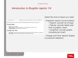Bugzilla Reports And Charts Scm Team Shanghai Is It Dept Bugzilla Training Ppt Download