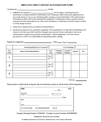 4 Direct Deposit Form Templates - Formats, Examples In Word Excel