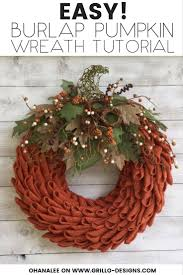 learn how to create a burlap pumpkin wreath using the petal technique this burlap wreath