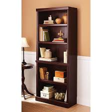 Amazon.com: 5 Shelf Cherry Bookcase Wooden Book Case Storage Shelves Wood  Bookshelf Library: Kitchen & Dining
