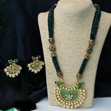 indian bollywood gold plated pearl