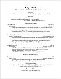 Resume For Engineering