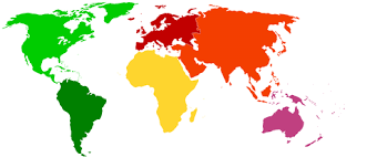 World Color Outline Map Gifex