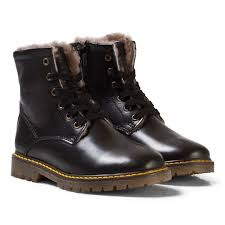 Bisgaard Size Chart Bisgaard Lambskin Boots Black Babyshop Com