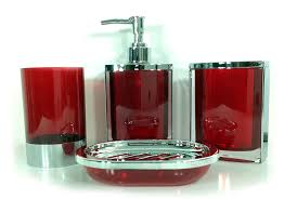 red glass bathroom accessories. 4 Piece Stunning Bathroom Accessories Set In 2 Lovely Colours Teal And Red ( RED): Amazon.co.uk: Kitchen \u0026 Home Glass A