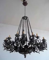 newest wrought iron chandelier intended for black vintage wrought iron chandelier hung in the white ceiling