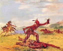 indian mode of taking the scalp by george catlin art reion