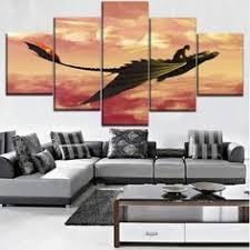 5 Pieces HD Printing Painting <b>Naruto</b> Frame <b>Modern Wall</b> Art in ...