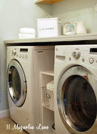 folding table over washer and dryer for beautiful laundry room makeover with diy laundry room folding