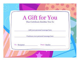 Gift Card Word Template Gift Punch Card Template In 2019 Gift Certificate Template