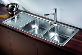 zeta 215 double bowl sink with drainer lifestyle