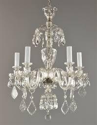 czech crystal chandelier c1930 vintage antique red glass ceiling light