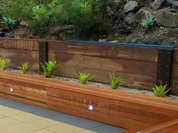 Small Picture Timber Sleepers for your retaining wall Simon Brady Local
