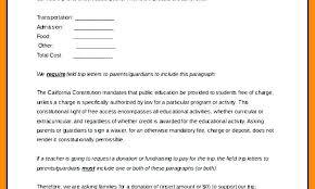 School Trip Letter To Parents Template Permission Slip Templates