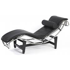 corbusier style leather modern lc4 chaise longue