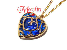 the legend of zelda blue heart conner pendant necklace
