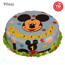 92 First Birthday Cake Boy Mickey Mouse Mickey Mouse First