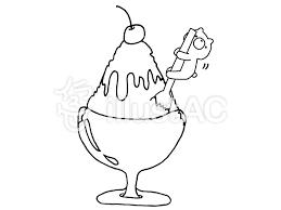 くまとかき氷パフェ 1の1イラスト No 836074無料イラストなら