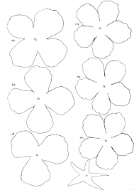Flowers Templates Paper Roses Template Floral Designs Tablescapes Paper