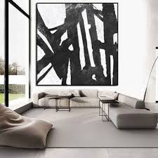 large abstract painting extra large wall art painting on canvas black and white painting on extra large living room wall art with large canvas painting wall art large from artcanvasshop on etsy