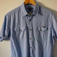 Eddie Bauer M Light Blue Twill Guide Shirt