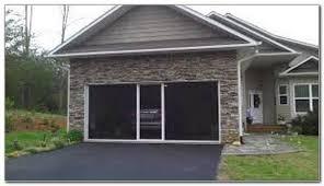 retractable garage door screen cost