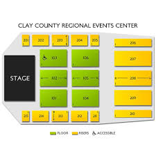 Clay County Regional Events Center 2019 Seating Chart
