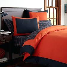 navy orange gray bedding full size