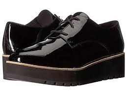 Cheap Eileen Fisher Eddy Black Patent Oxford Shoes Women Sale