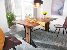 Wohnling Esszimmertisch Massiv 200 Cm Esstisch Baumkante Küchentisch Tisch Holz