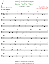 bassoon sheet music what child is this for bassoon free sheet music