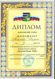Спортивные достижения учебный год МБОУ СОШ № г  Диплом