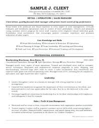 Manager Resume Examples Operation Manager Resume Examples Retail