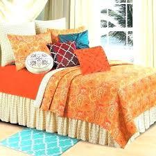 burnt orange bedspread bedding sets bed c f comforter king down