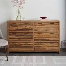 bay reclaimed pine 6 drawer dresser rustic natural