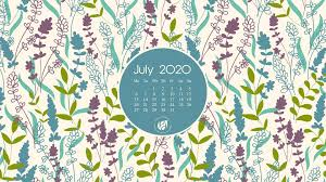 July 2020 free calendar wallpapers ...