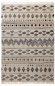 inca tribal kilim rug with recycled denim 160 x 240cm pure wool