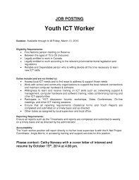 Simple Cover Letter For Youthworker