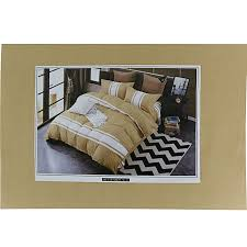 striped duvet cover bedsheet set brown white