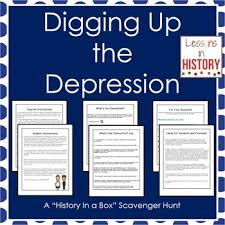 the great depression history in a box scavenger hunt research  the great depression history in a box scavenger hunt research project