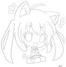 Coloring Pages Of Anime Cat Girl Printable Cute Chibi Chronicles